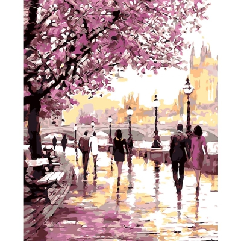 DIY Park Oil Painting Art Wall Home Decoration