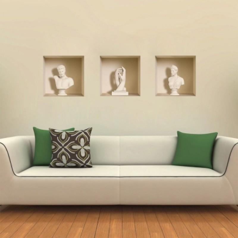 3D Wall Sticker Art Statues Creative Decorations XQ100015