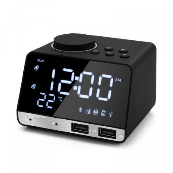 K11 Bluetooth 4.2 Multipurpose Alarm Clock Speaker Cool