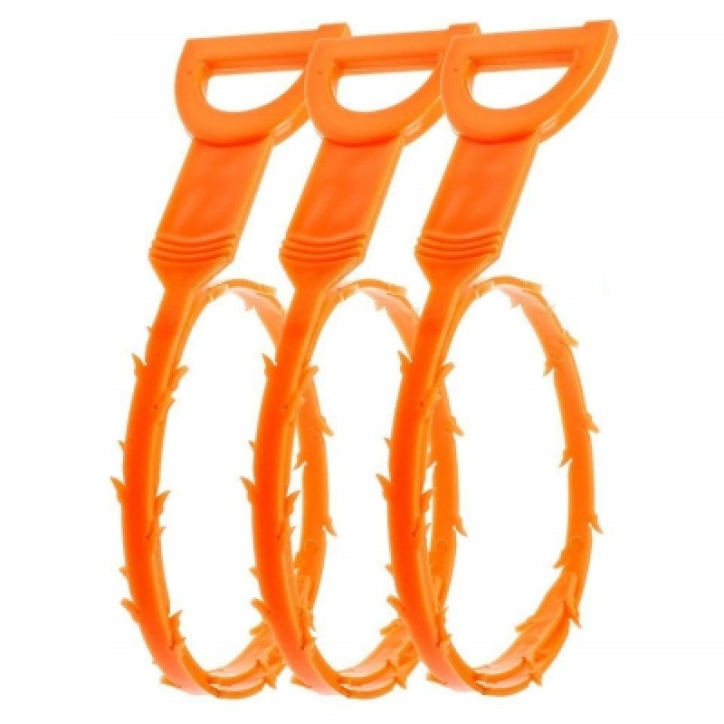 3 Pcs 19.6 Inch Drain Snake Hair Drain Clog Remover Cleaning Tool