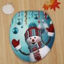 Christmas Baubles Snowman Pattern 3 Pcs Bath Mat Toilet Mat