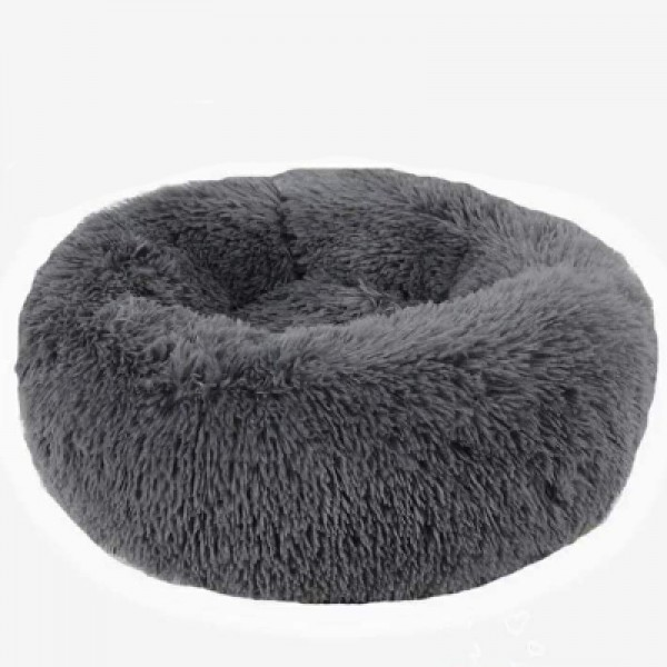 Long Plush Round Pet Bed Flush Kennel Creative Pet Nest for Cats and Dogs