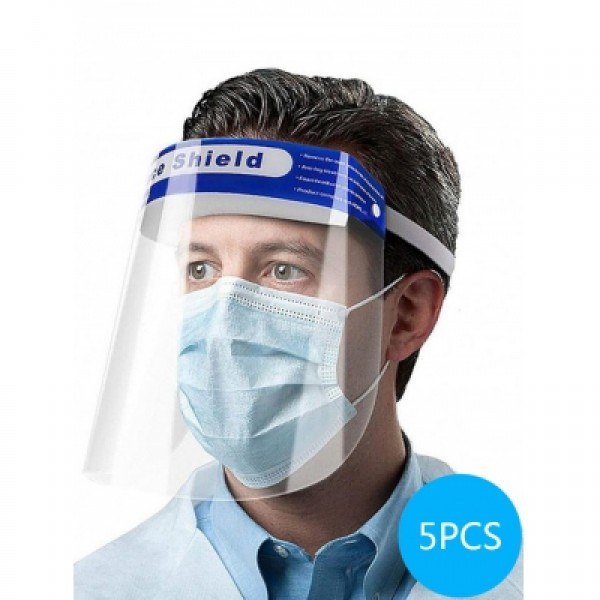 5PCS Anti Spray Face Shields Set