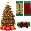12pcs Pretty Bowknots Ornament Christmas Tree Festival Party Decoration