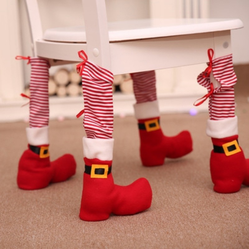 Christmas Decoration Supplies Christmas Table Foot Cover Home Dressing Table Cha