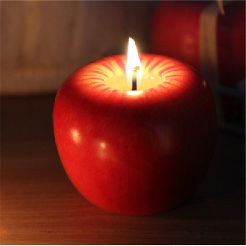 Christmas Apple Candle
