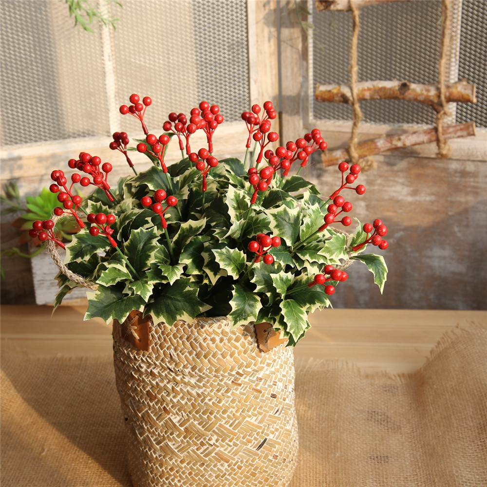 Christmas Red Berries Artificial Flower Home Party Wedding Decorations