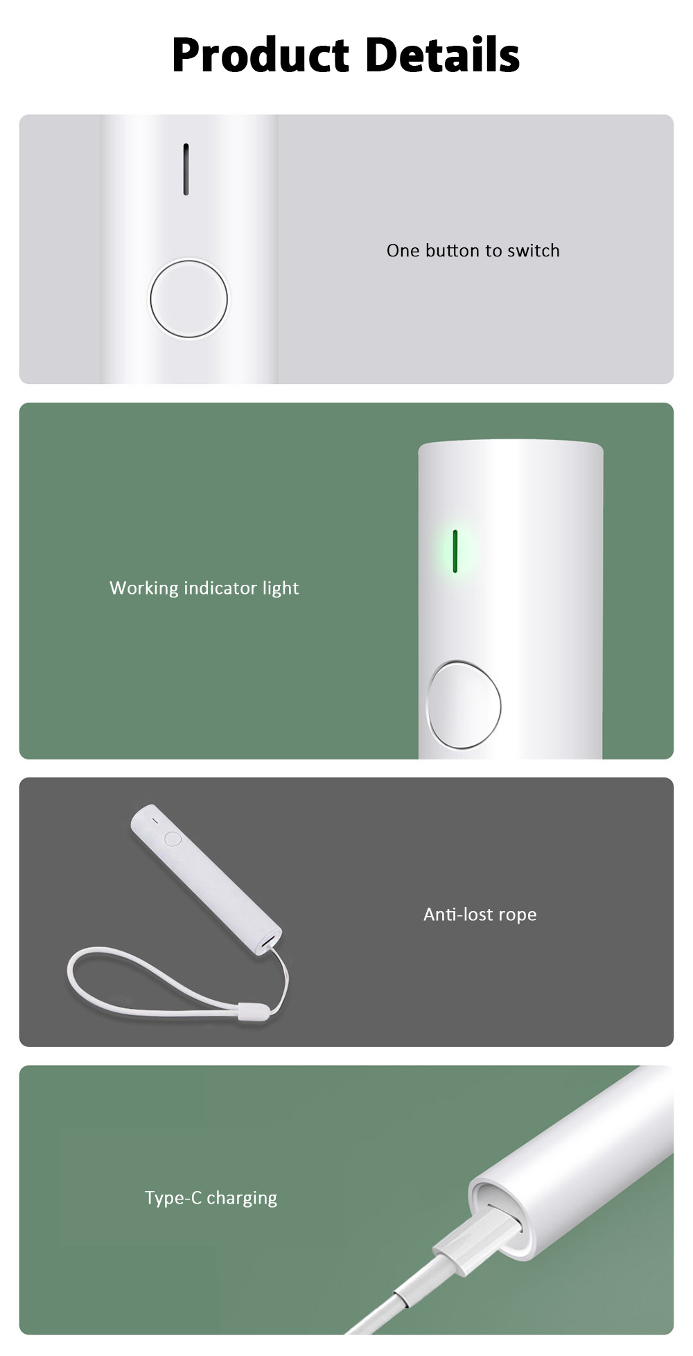 Small and Portable Infrared Pulse Antipruritic Stick Precise Temperature Control 200mAh Battery from Xiaomi Youpin